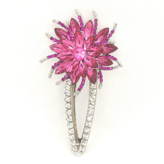 Flower clip pink