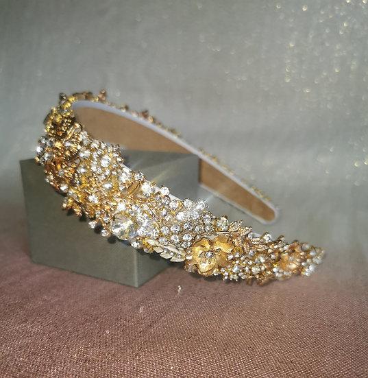 Golden Eden bridal crown