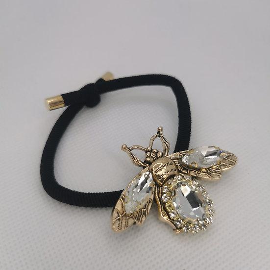 Golden bee hair tie