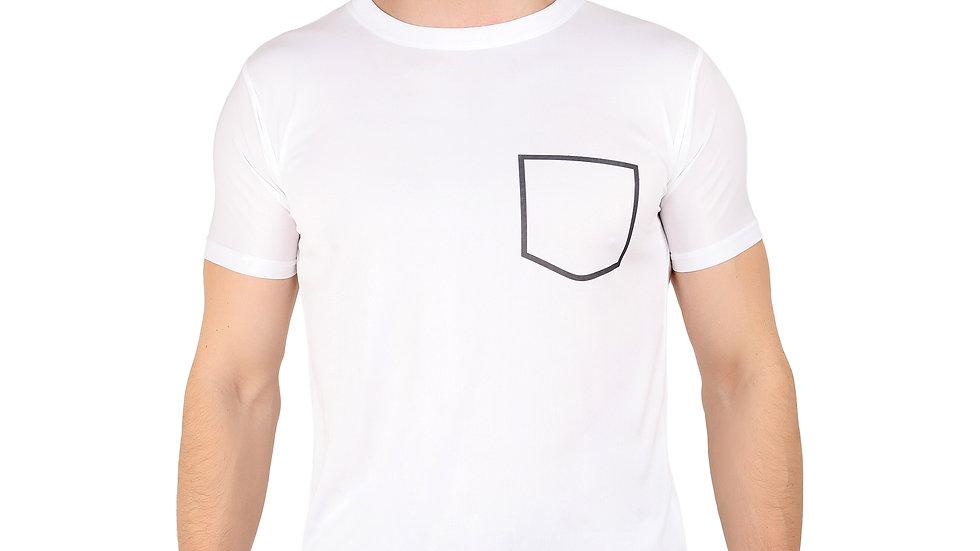 UNFAKENOW Solid Men Round Neck White T-Shirt