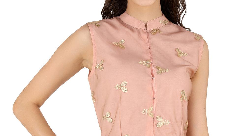 UNFAKENOW  Party Sleeveless Floral Print Women Pink Crop Top