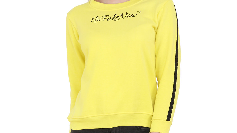 UNFAKENOW  Full Sleeve Solid Women Sweatshirt
