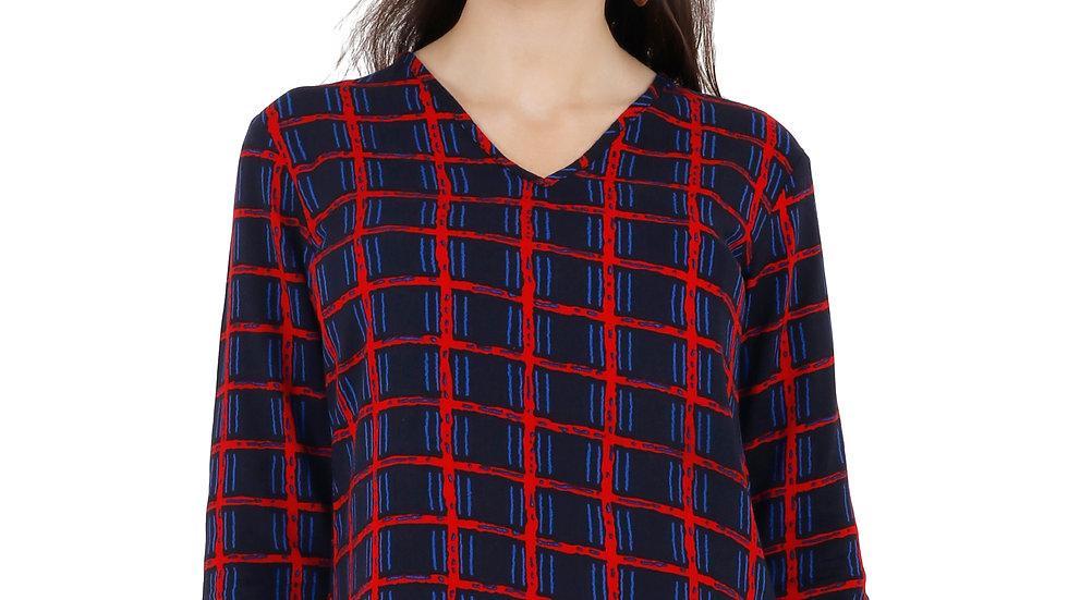 UNFAKENOW  Checkered Women Tunic