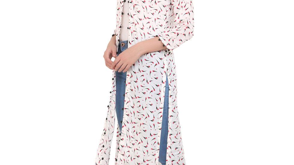 UNFAKENOW  Women Kimono Style 3/4th Sleeve Multicolor Shrug