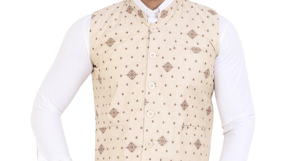 UNFAKENOW  Geometric Print Men Waistcoat