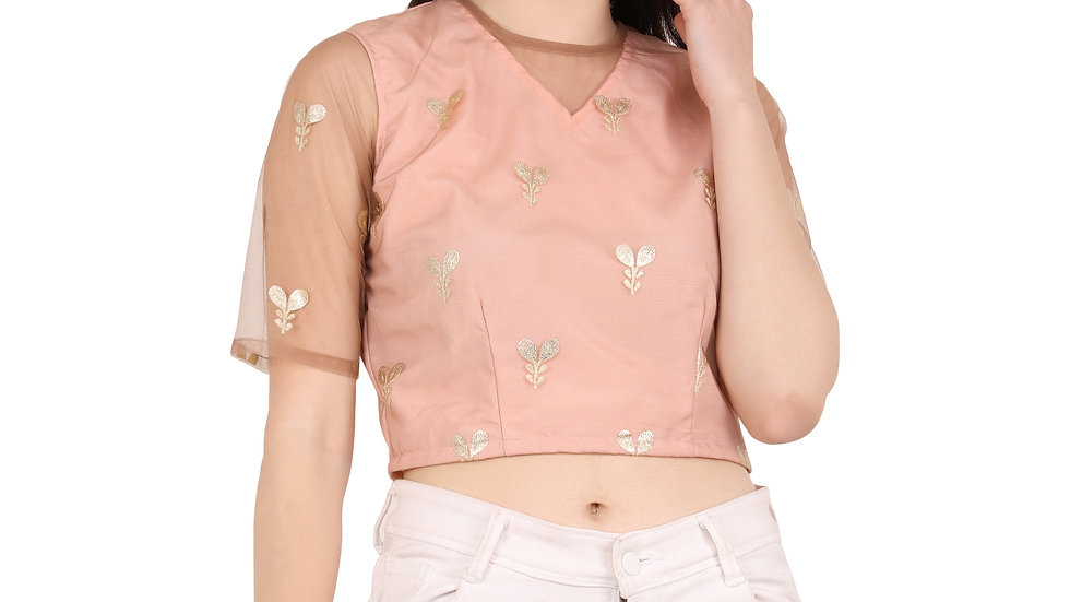 UNFAKENOW  Casual Regular Sleeve Floral Print Women Pink Top