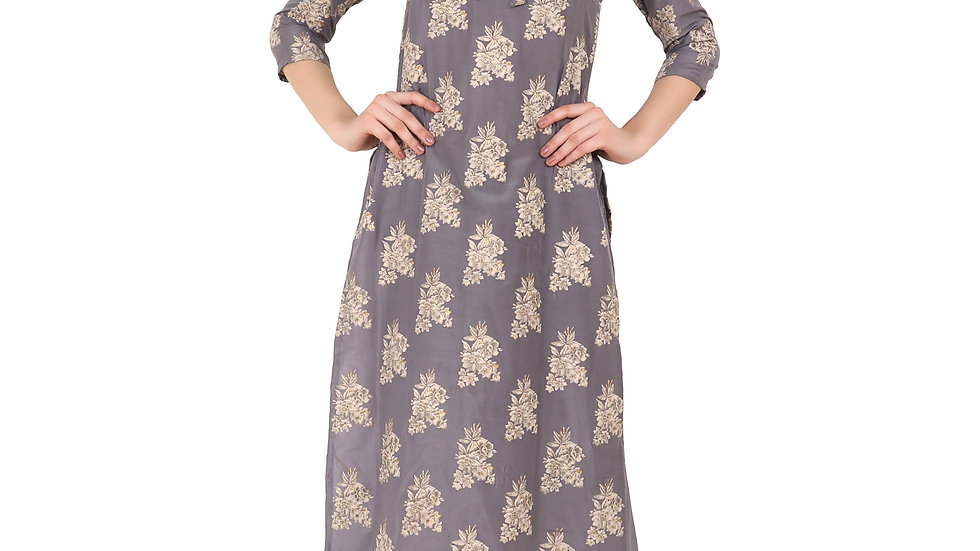 UNFAKENOW  Women Kurta and Palazzo Set Cotton Satin Blend