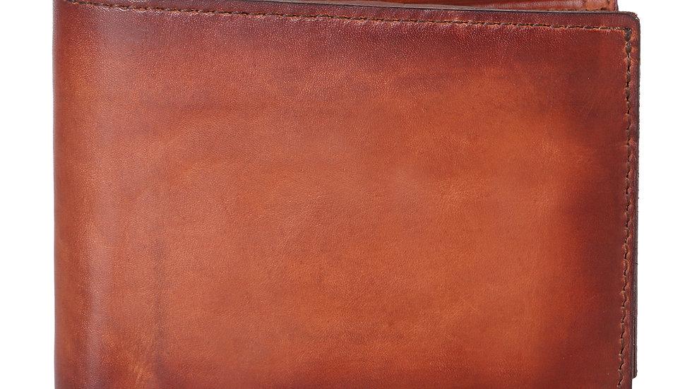 UNFAKENOW  Men Tan Genuine Leather Wallet  (7 Card Slots)