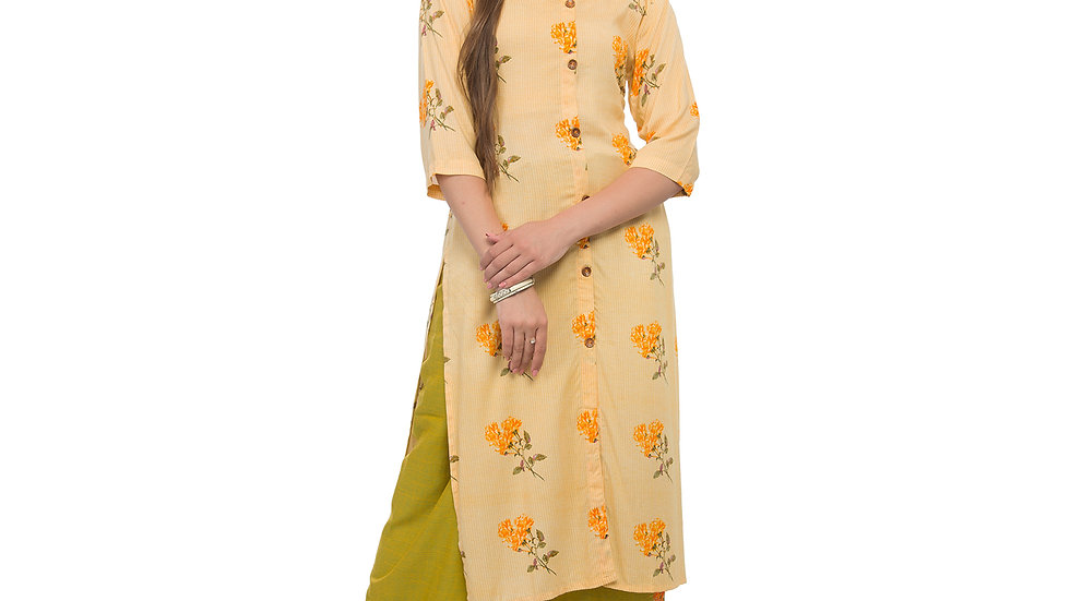 UNFAKENOW  Women Kurta and Palazzo Set Rayon