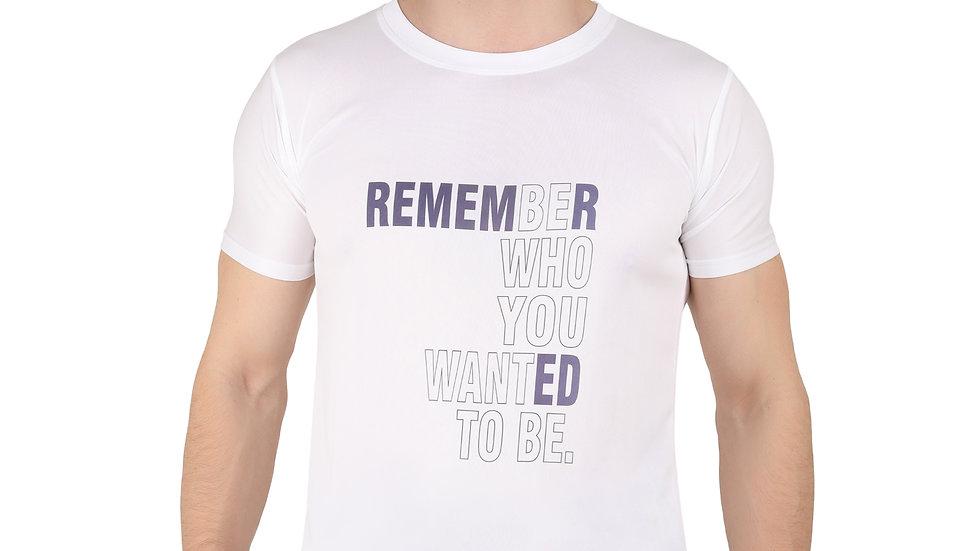 UNFAKENOW Printed Men Round Neck White T-Shirt