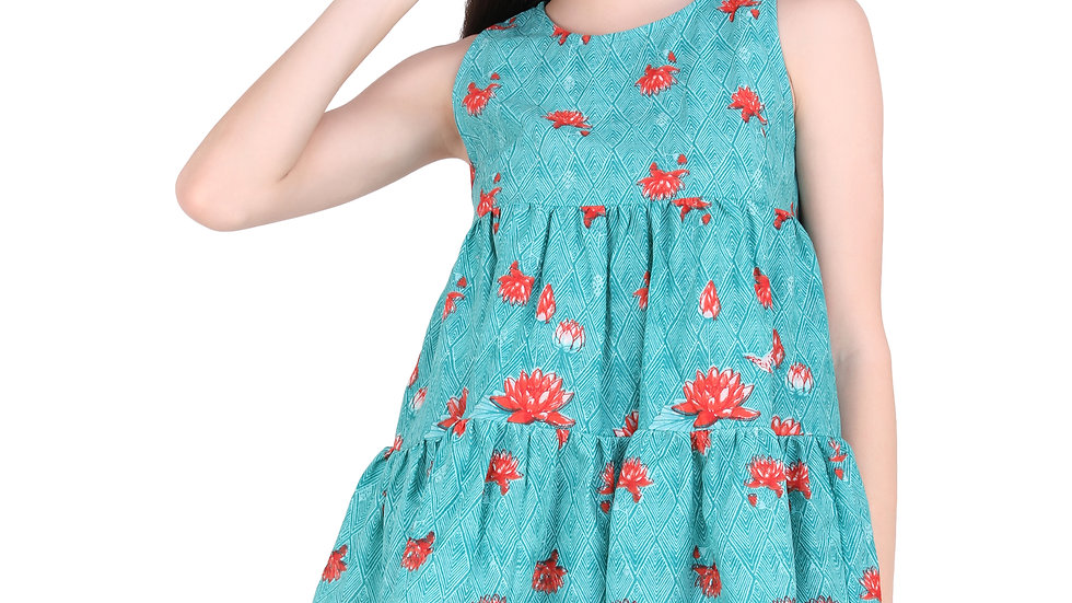 UNFAKENOW  Casual Sleeveless Printed Women Blue Top