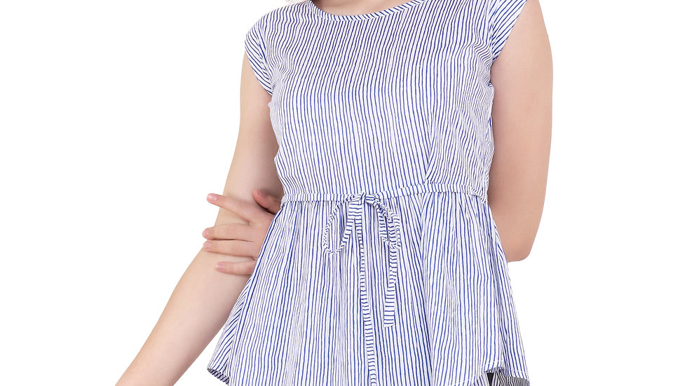 UNFAKENOW  Casual Sleeveless Striped Women Multicolor Top