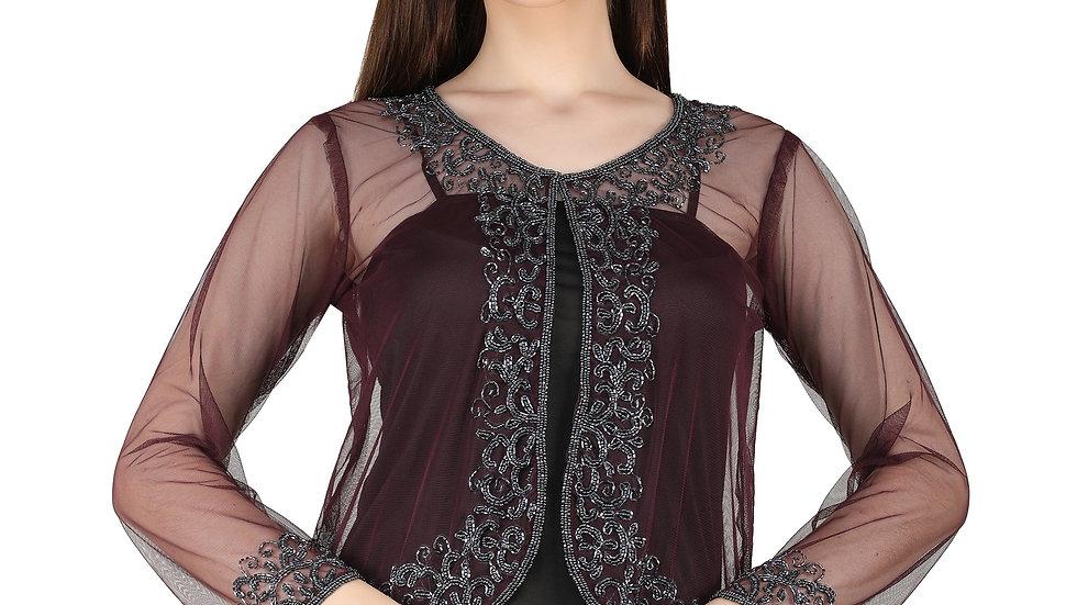 UNFAKENOW  Women Jacket Style Full Sleeve Black Shrug