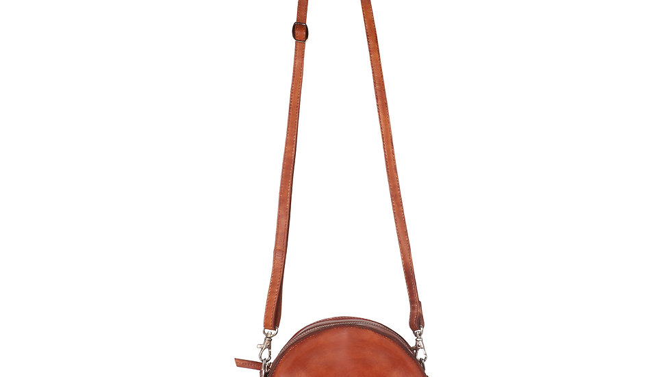 UNFAKENOW  Genuine Leather Tan Women Sling Bag