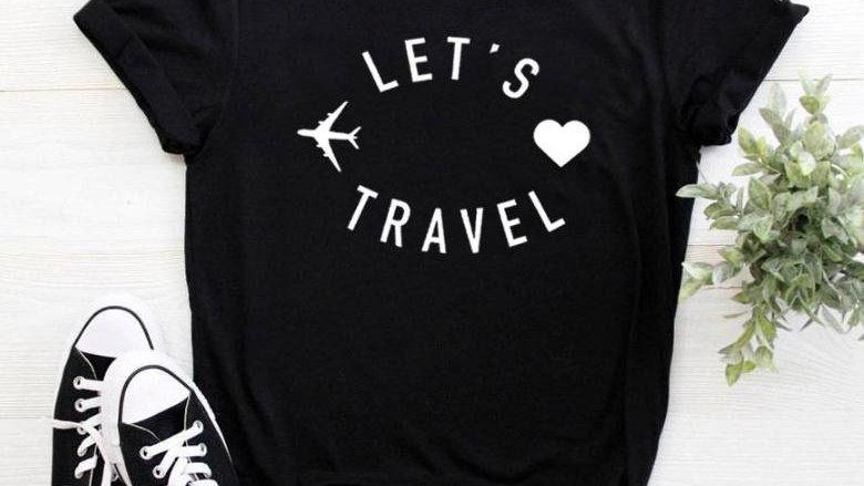 Let's Travel Ladies Summer Tee Top
