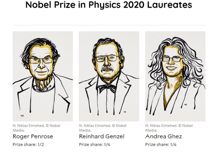 Nobel Prize in Physics awarded for discovery of black hole