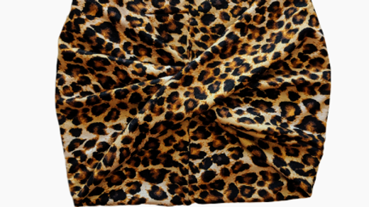 Wide Leopard Print Headband