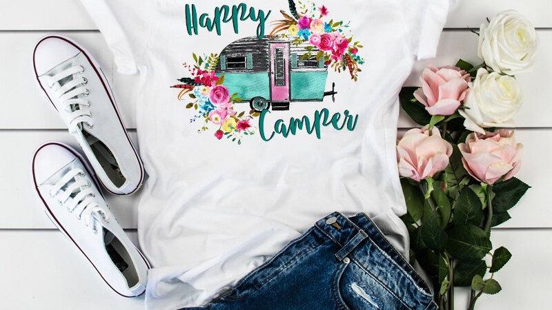 Ladies Happy Camper Vacay T-Shirt