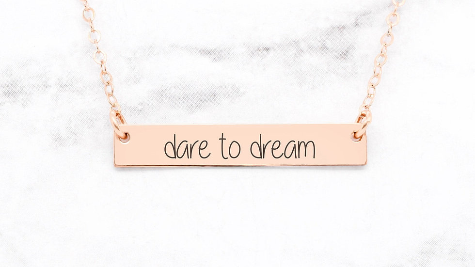 Dare to Dream Rose Gold Necklace