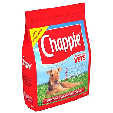 Chappie Adult Beef & Whole Grain Cereal Dog Food 15kg