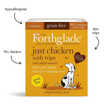 Forthglade Just Chicken and Tripe  Tray Wet Dog Food - 395g