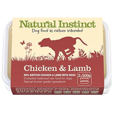 Natural Instinct Chicken & Lamb Raw Dog Food