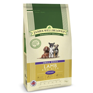 James Wellbeloved Senior Lamb Dry Dog Food 15kg