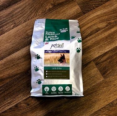 Pet Deli Lamb and Rice Dry Dog Food - 12kg