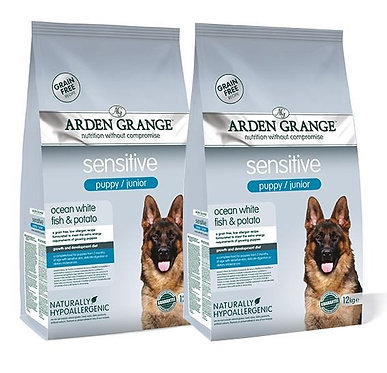 Arden Grange Puppy Sensitive White Fish Dry Dog Food 12kg