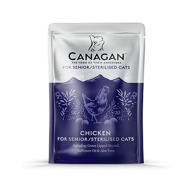 Canagan Chicken for Seniors Cat Pouches x 8