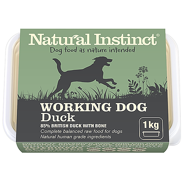 Working Dog Natural Instinct Duck Raw Dog Food