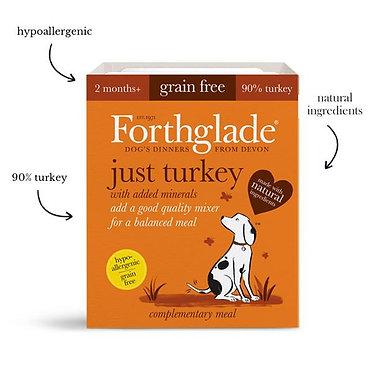 Forthglade Just Turkey Tray Wet Dog Food - 395g