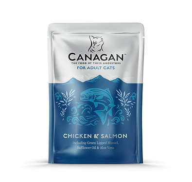 Canagan Chicken and Salmon Cat Pouches x 8