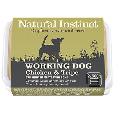 Working Dog Natural Instinct Chicken & Tripe Raw Dog Food
