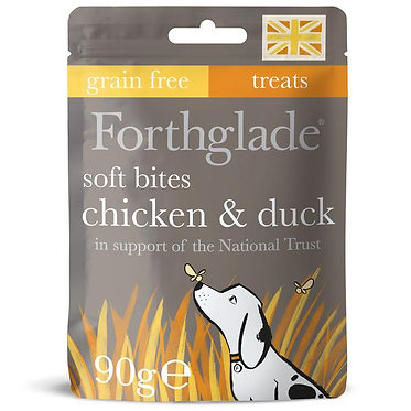 Forthglade Chicken and Duck Soft Dog Treats - 90g