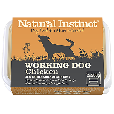 Working Dog Natural Instinct Chicken Raw Dog Food