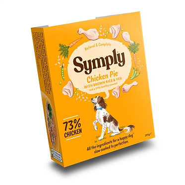 Symply Chicken Pie with Brown Rice For Adult Dogs (7 Trays)