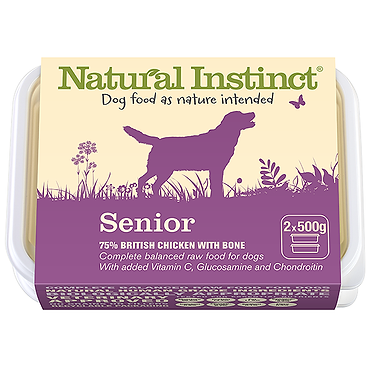 Natural Instinct Senior Raw Dog Food