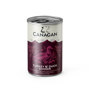 Canagan Turkey and Duck Dog Food Cans x 6