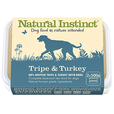 Natural Instinct Tripe and Turkey Raw Dog Food