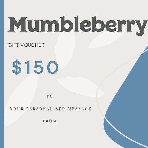$150 Mumbleberry Gift Voucher