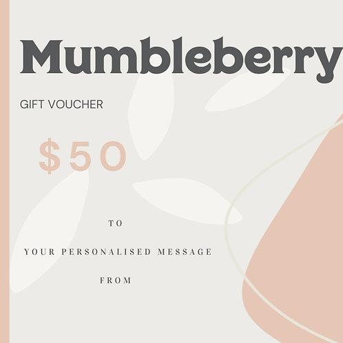 $50 Mumbleberry Gift Voucher