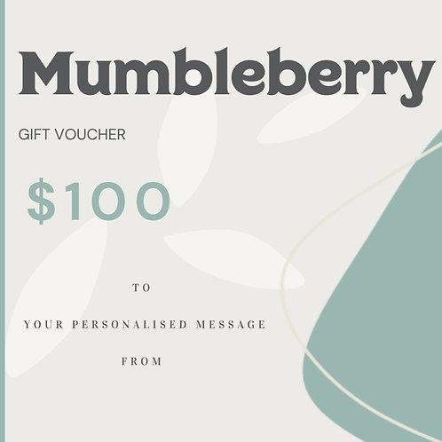 $100 Mumbleberry Gift Voucher