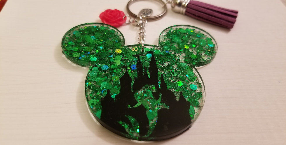 Ariel Mouse Keychain