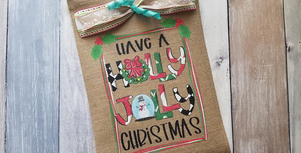 Have a Holly Jolly Christmas Garden Flag