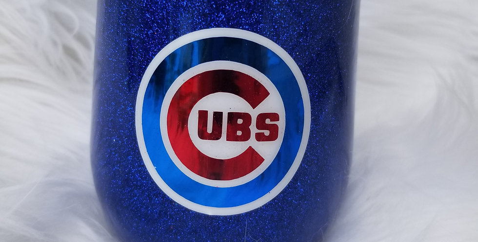 Cubs Fan Wine Tumbler