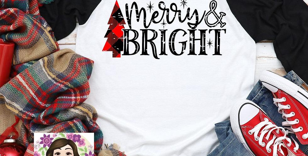 Merry & Bright Raglan Tee