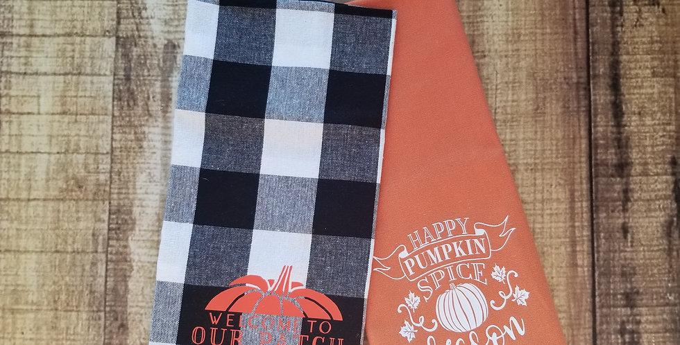 Pumpkin Tea Towels
