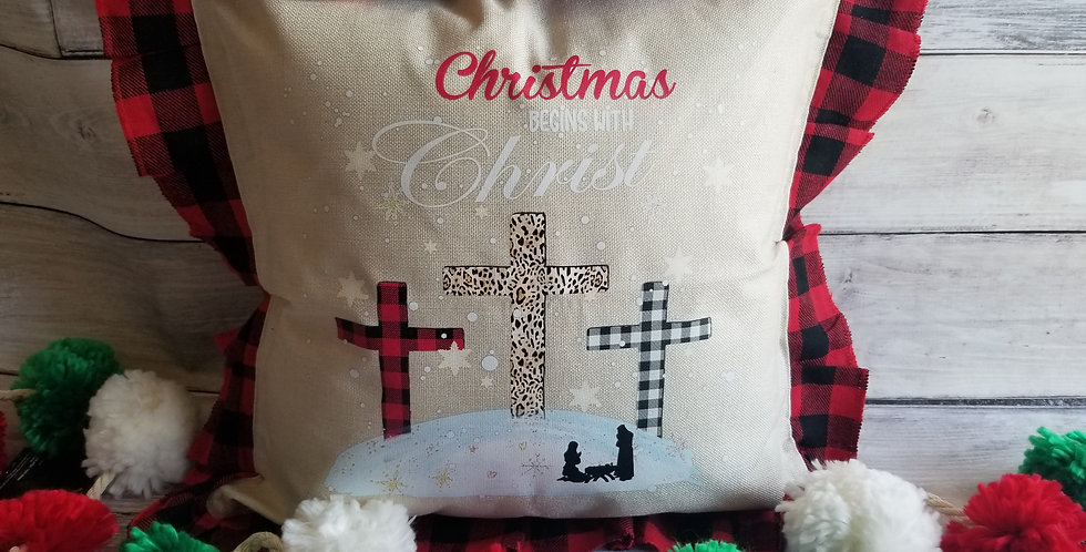 It Begins with Christ Pillow Cover