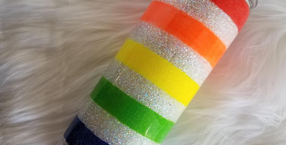 Glitter Rainbow Stripe